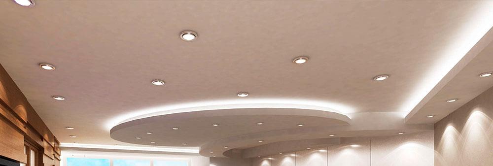 Точечный светодиодный светильник или даунлайт.